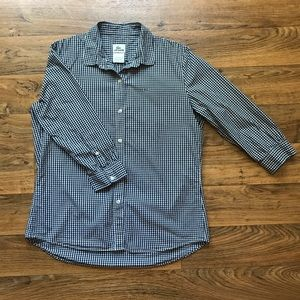 Gingham Button Down Black and White by Lacoste